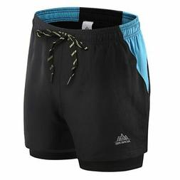 Men's Shorts Sports Fitness Running Quick-Dry Compression Pa