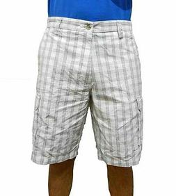 Dockers Men's Washed Cargo Shorts 941790019 White Plaid