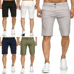 Men Shorts Slim Fit Stretch Flat Front Summer Casual Solid C