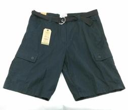 One Tough Brand Mens Casual Cargo Shorts Belted Flat Front B
