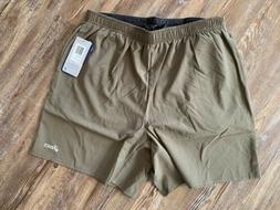 Asics Mens Grey Green Athletic Running Workout 2in1 Shorts S