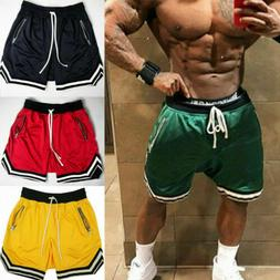 Mens Gym Fitness Shorts Running Sport Workout Casual Jogging
