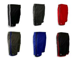 Mens Mesh Jersey 2 Pocket  Basketball Shorts Gym Fitness Wor