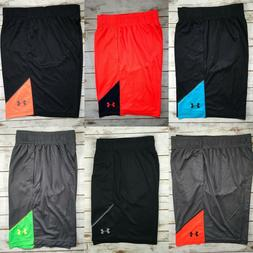 Mens Under Armour Mesh Shorts Basketball Athletic Gym Black
