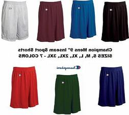 """Champion Mens NEW Size S-3XL Athletic Poly Mesh Gym 9"""" Insea"""