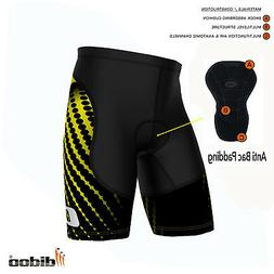 mens padded cycling shorts compression running fitness