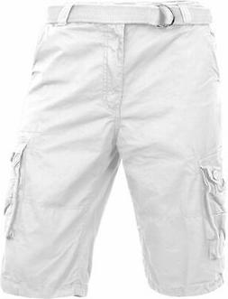 Hat and Beyond Mens Premium Cargo Shorts with Belt Outdoor T