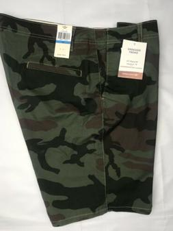 """Dockers Mens Shorts 9"""" Inseam 36 Camouflage Green Brown Cott"""