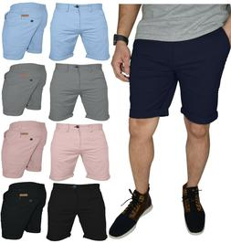 Mens Stretch Chino Shorts Casual Flat Front Slim Fit Spandex