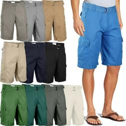 Mens Twill Cargo Shorts with Belt 30 40 Short Pants Summer M