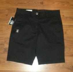 NEW Volcom Frickin Modern Mens Black Casual Chino Stretch Sh