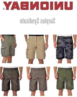 New Men's Unionbay Montego Cargo Shorts with Stretch-Various