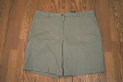 NEW Mens IZOD Cedarwood Khaki Cotton Casual Flat Front Short