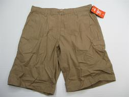 new DOCKERS Shorts Men's Size 34 100% Cotton Flat Front Brow