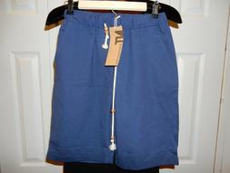 New With Tag Nitagut Blue Linen Cotton Shorts;Size XS