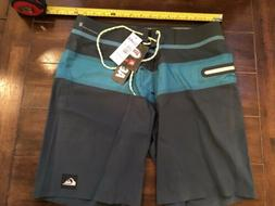 NWT QUIKSILVER  Men's Board Shorts  AG47 NEW WAVE  BONDED