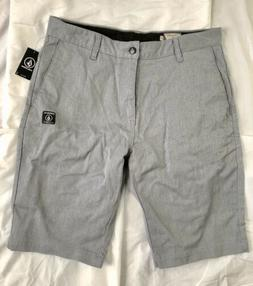 NWT Volcom VMonty Stretch Shorts Mens Size 32 Charcoal Grey
