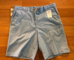 Izod Saltwater Stretch Flat Front Blue Shorts, Men's 34, 9.5