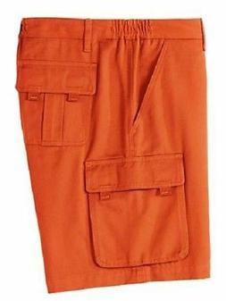 size 56 men's Big and Tall Tri-Waist™ Cargo Shorts rust or