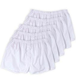 Fruit of the Loom Men's 5-Pack Solid White Boxers 5P595 )