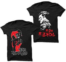 2 Pieces Adult T-Shirts for Couples in Black -His Harley Her