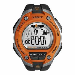 "Timex T5K529, Men's ""Ironman"" 30-Lap Black Resin Watch, Alar"