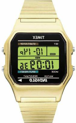 Timex Men's T78677 Classic Digital Gold-Tone Stainless Steel