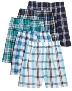 Fruit of the Loom Men's Tartan  Woven Boxer - Colors May Var