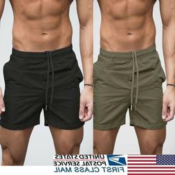US Men's GYM Shorts Training Running Sport Workout Casual Jo