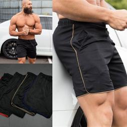 c859e17fa29 USA Men Swim Fitted Shorts Bodybuilding Workout Gym Running