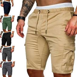 USSTOCK Mens Summer Shorts Gym Sport Running Workout Cargo P