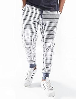 Rebel Canyon Young Men's Slim Fit Printed Striped Jogger Swe